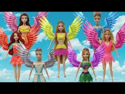 "Play Doh Fairy ""Disney Princess"" Elsa Anna Rapunzel Belle Ariel Cinderella Aurora"