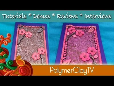 Polymer Clay Journal Cover Cherry Blossoms