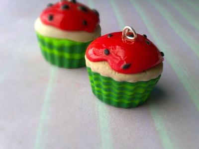Polymer Clay Watermelon Cupcake Tutorial