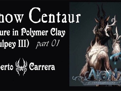 Snow Centaur (figure in Colour Polymer Clay) part_01 by A. Carrera