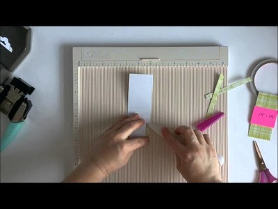 Tag in a Pocket using Stampin' Up Tag Topper Punch - Tutorial