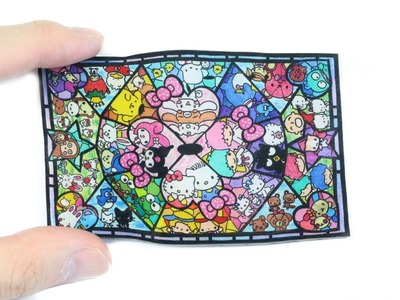 Watch Me Shrink Plastic: Sanrio Stained Glass