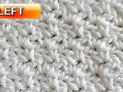 Wattle Stitch - Left Handed Crochet Tutorial