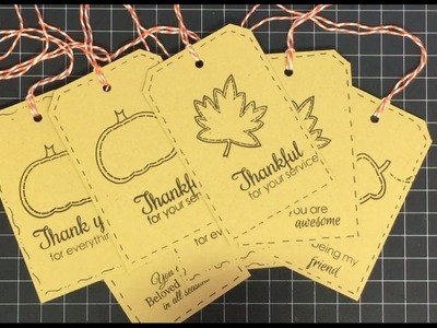 8 Tags 1 Piece of Cardstock and Tags-Giving Event Announcement