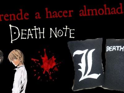 ✳Aprende a hacer almohadas (Death Note) Ft. kawaiimoments