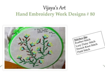Beautiful Hand Embroidery Designs # 80 - Feather Stitch