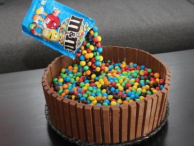 Candy Cake mit M&M's und KitKat - Ganz leicht selber machen!