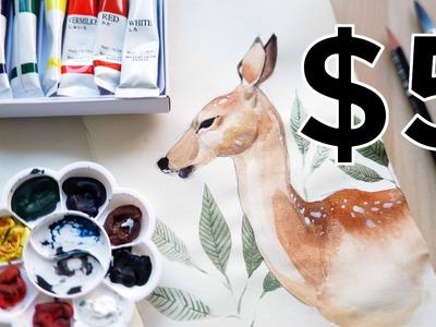 CHEAP ART SUPPLY CHALLENGE (less than $5! + Q&A)