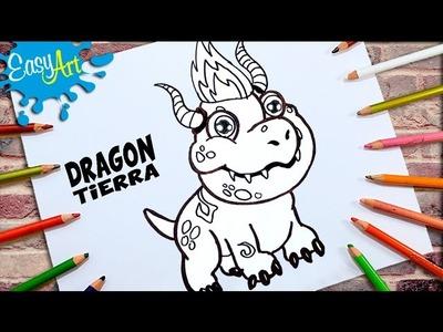 DIBUJOS DRAGON CITY│Cómo Dibujar a Dragon Tierra│How to draw Earth Dragon
