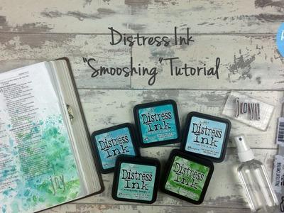Distress Ink Smooshing Tutorial - Bible Art Journaling Challenge Week 22