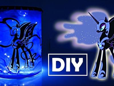 DIY My Little Pony NIGHTMARE MOON Lantern Nightlight MLP Craft Tutorial | SweetTreatsPonies
