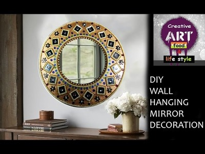 DIY Wall hanging mirror decoration | Room Decor | Art with Creativity