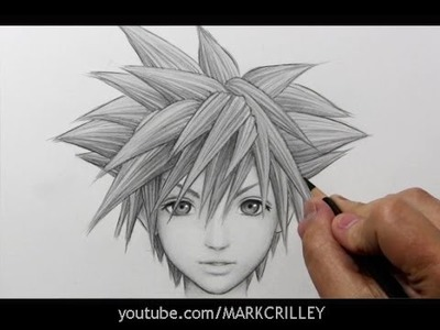 "Drawing Time Lapse: Sora from ""Kingdom Hearts"""