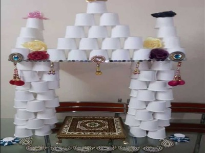 Easy Home made Ganapati decoration