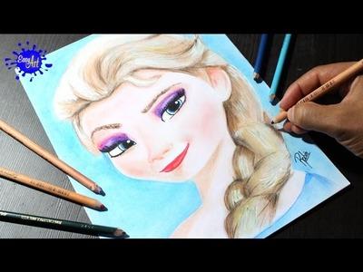 Elsa of frozen l Como dibujar a elsa de frozen l How to draw elsa of frozen