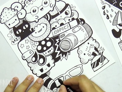 Full Page Marker Doodle | Cute Doodle Card