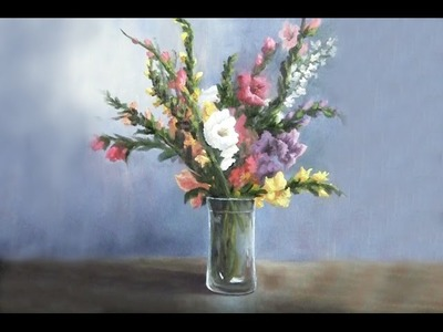 Gladiola Flowers in a Vase | Paint with Kevin Hill