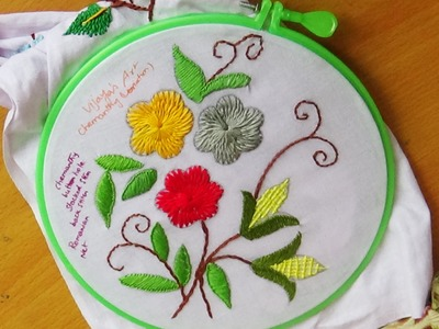 Hand Embroidery Designs # 129 -Chemanthy Flower (variation)