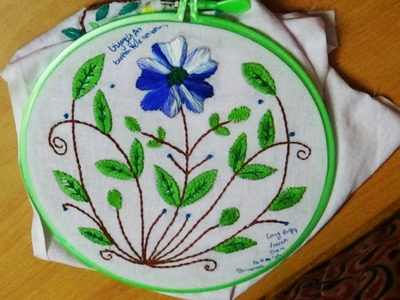 Hand Embroidery Designs # 135 - Buttonhole stitch design
