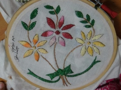Hand Embroidery Designs # 166 - Satin designs