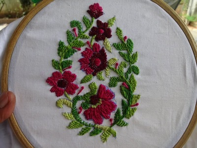 Hand Embroidery Rumanian Stitch by Amma Arts