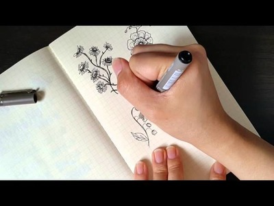 How To: Flower Doodles for Your Planners or Journals