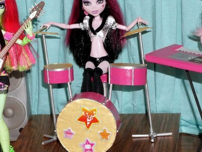 How to make a drum kit for doll (Monster High, EAH, Barbie, etc)