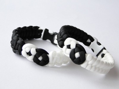 How to Make a Yin Yang Paracord Bracelet- Yin Yang Knot by CreationsByS