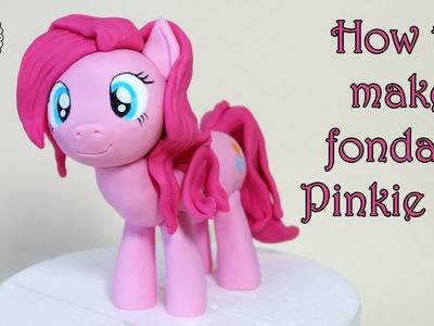 How to make fondant Pinkie Pie pony. Jak zrobić kucyka Pinkie Pie z masy cukrowej