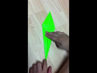 How to make Origami Stem to the Lily Flower