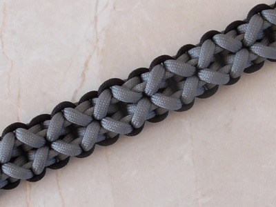 How To Tie A Clove And Dagger Paracord Survival Braelet Without Buckle