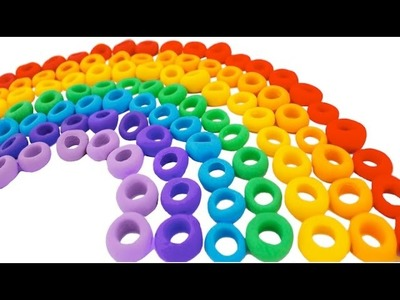 Learn Colors of the Rainbow with Play Doh Froot Loops RainbowLearning