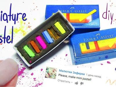 Miniature pastel - DIY