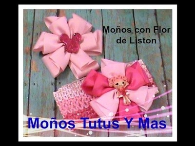 MOñO FACIL CON DOBLECES Paso a Paso FOLDED RIBBON HAIR BOW Tutorial DIY How To PAP