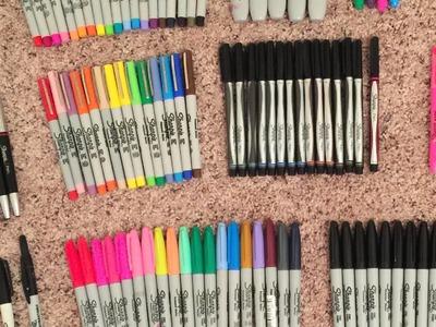 My Sharpie Collection {140+ Sharpies}