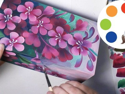 Painting  flowers with acrylic, Como pintar con acrílicos, irishkalia