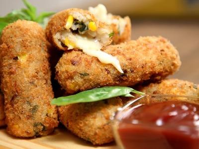Potato Croquettes Recipe | Easy To Make Snack Recipe | The Bombay Chef - Varun Inamdar