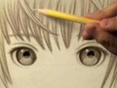 Pretty Eyes, Mellow Music (Time Lapse Drawing)