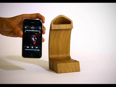 Scaleno, the new natural iPhone docking station