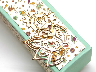 Tall Slender Pretty Box using Stampin' Up! Petals & Paisleys