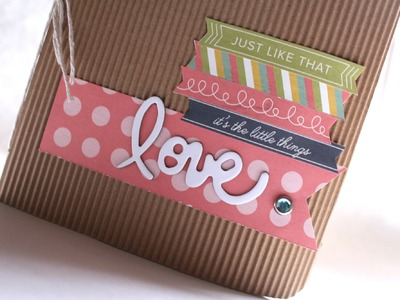 "Tutorial Mini Album Scrapbook ""Love"" * Scraptools"