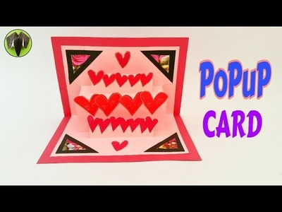 "Tutorial to make an easy ""Popup Greetings CARD"" - Heart 