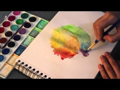 Watercolor art  | ZENTANGLE ART
