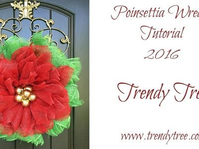 2016 Poinsettia Wreath Tutorial by Trendy Tree