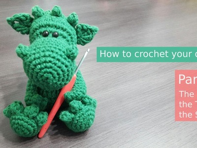 Amigurumi | Spikey the Dragon Part 2.3