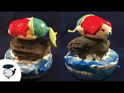 Ariel Seal with Ocean Rock Deco Squishy Tutorial - Creamiicandy Mochi Seal