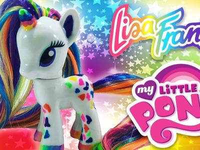 Custom LISA FRANK UNICORN MLP | My Little Pony Tutorial