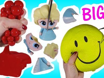 Cutting OPEN Biggest Squishy STRESS BALL EVER! GIANT Squishy! Frozen FASHEM! Mesh Ball FUN!