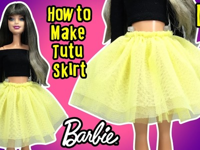 DIY - How to Make Barbie Doll Tutu Skirt - Doll Clothes Tutorial - Making Kids Toys