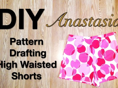 DIY Pattern Drafting High Waisted Shorts | Sew Anastasia